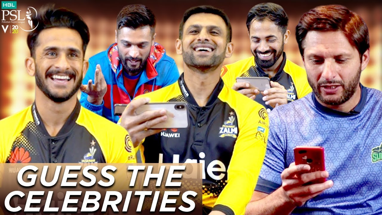 Guess The Stars Part One | HBL PSL Stars Try To Guess Pakistani Celebrities | Shahid Afridi | MA1