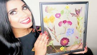 DOLLAR TREE DIY: Pressed Flower Art in Glass Frame