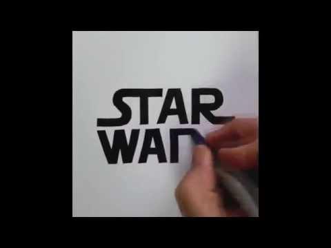 Artist Seb Lester freehand logos