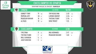 🔴LIVE:  Excelsior'20 vs Sparta   LEAGUE   KNCB Topklasse Round 11   26-06-2021