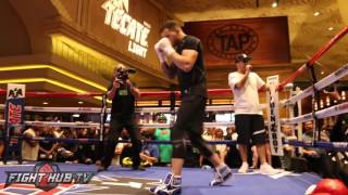 David Lemieux vs. Glen Tapia Full Video- Complete Tapia open workout