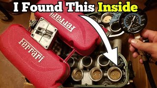 Is the Salvage Auction Ferrari's Engine Bad? I Started Taking it Apart and Found Multiple Issues!