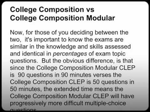 freshman college composition clep essay