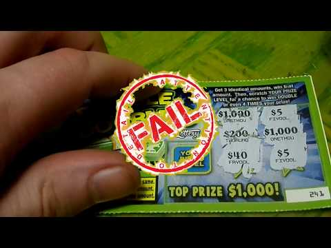 Top Prize $1000 $1 Double Doubler Arizona Scratch Off Lottery Ticket