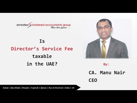 VAT on Directors Fee| Your Management Fee is also Taxable in UAE- CA Manu Nair CEO Emiratesca