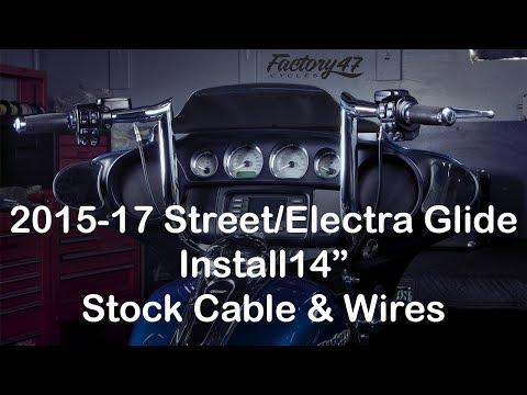 "Harley Davidson 14/""-16/"" Handlebar Cable Kit for Touring Baggers 2014-2020 ABS!!"