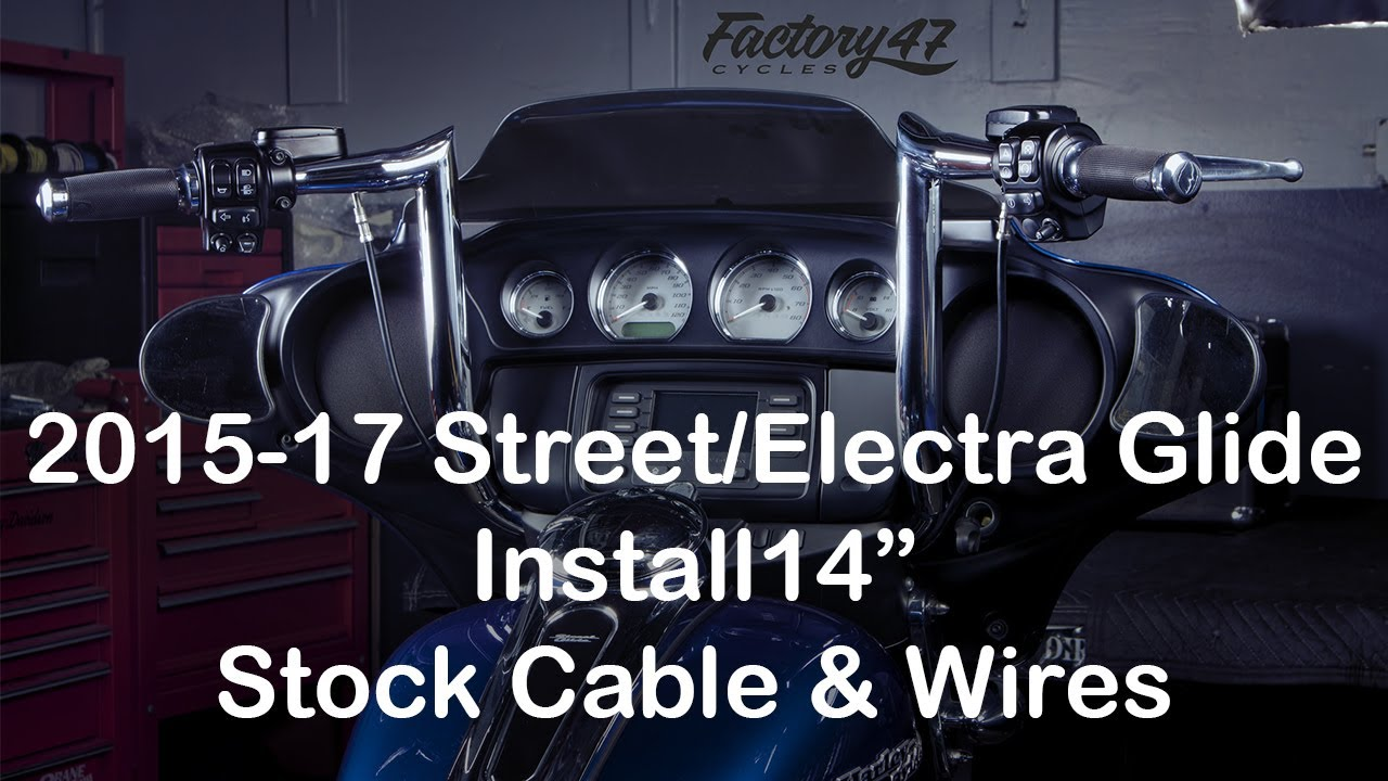 install 14 factory 47 bars on any 2014 18 street electra glide using all stock cables wires [ 1280 x 720 Pixel ]