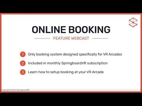 SpringboardVR VR Arcade Online Booking Feature