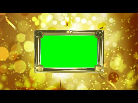 Футаж Рамка золотая праздничная хромакей