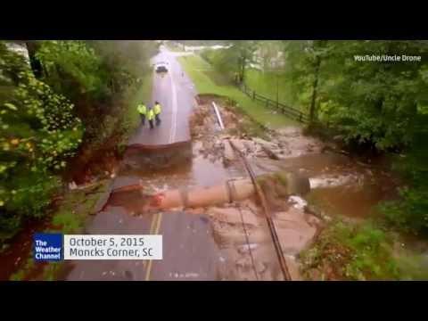 Drone Captures South Carolina Flood Damage