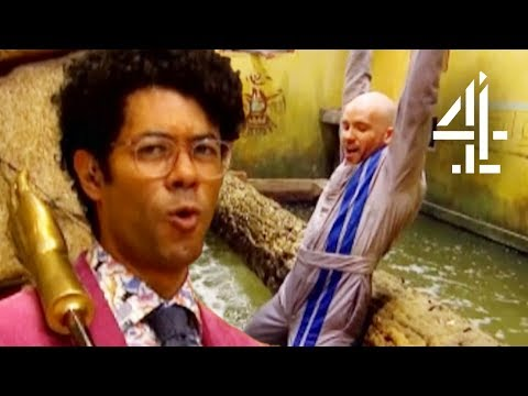 Tom Allen Cannot Stop Falling Off His Log! | The Crystal Maze