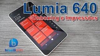Lumia 640 - Unboxing e Impressões