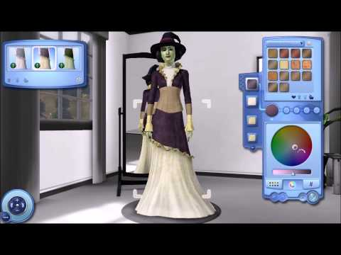 The sims 3-Lets create an evil witch
