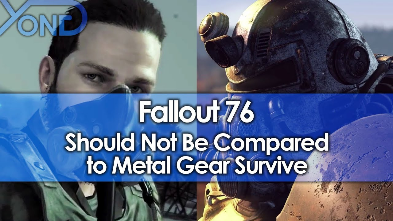 Fallout 76 Should Not Be Compared to Metal Gear Survive