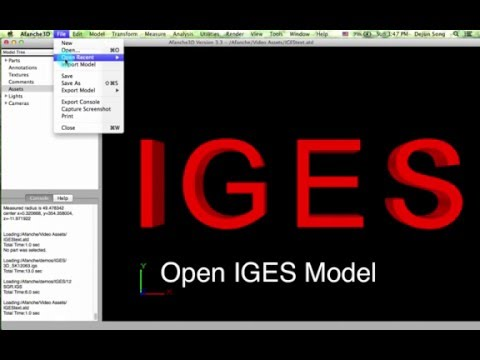 Viewing IGES Files With Afanche3D On Mac