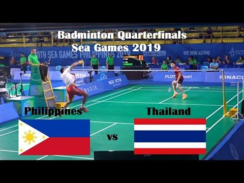 Philippines vs Thailand Badminton Men's Singles Quarterfinals Sea Games