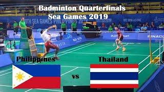 Philippines vs Thailand Badminton Men's Singles Quarterfinals Sea Games 2019