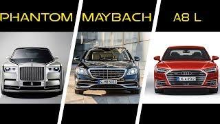 Rolls-Royce Phantom vs Mercedes Maybach S650 vs Audi A8 L