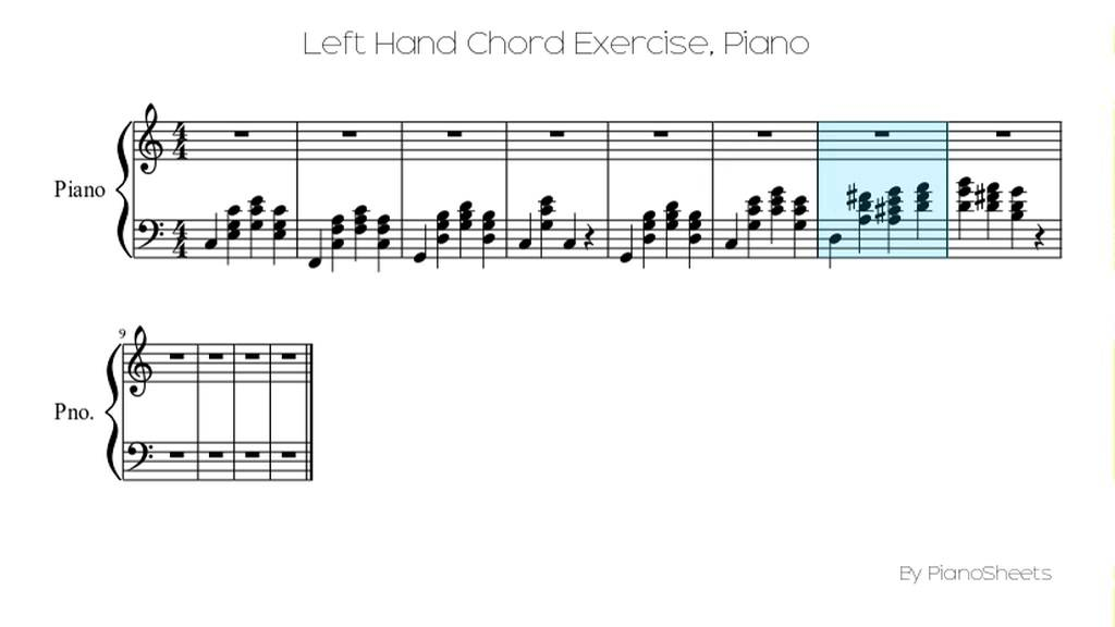 Left Hand Chord Exercise Piano Solo Youtube