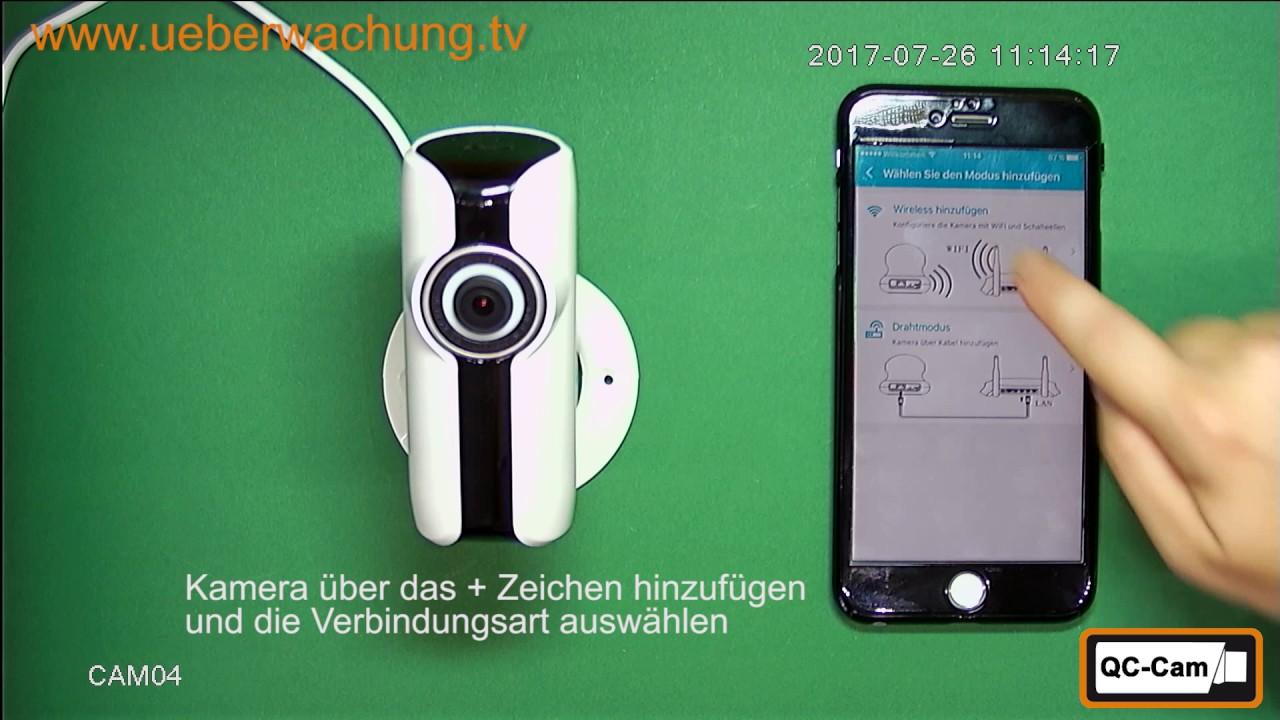 Smarthome Kamera in App IPC360 einbinden - YouTube
