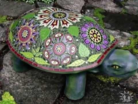 Стол из мозаики на даче своими руками