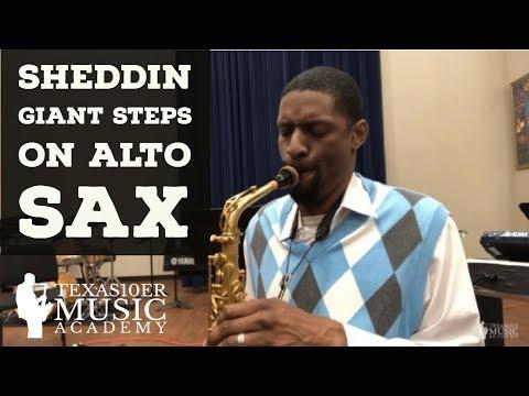 Sheddin Giant Steps On Alto Sax