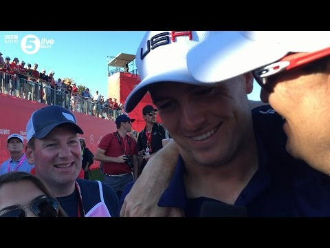 Jordan Spieth cuts Ryder Cup interview short