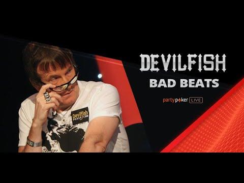 Top 5 Devilfish BAD BEATS   Poker Legends