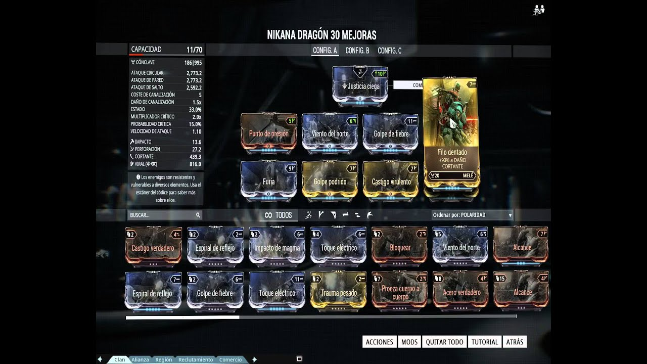 Warframe Nikana Build