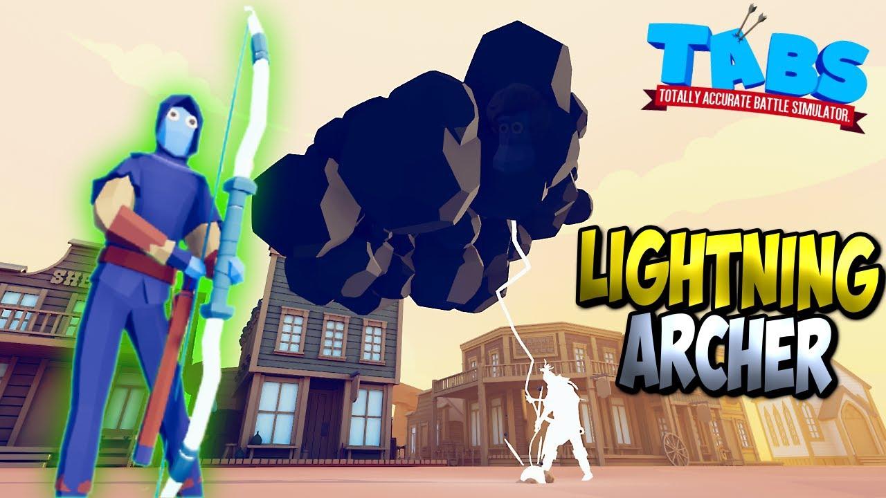 Lightning Archer vs Every Faction + Bonus - TABS MODS GAMEPLAY
