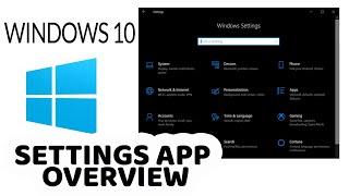 Windows 10 Settings App & Control Panel Tutorial
