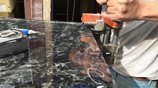 Volga Blue  Granite Cutting & Chisel