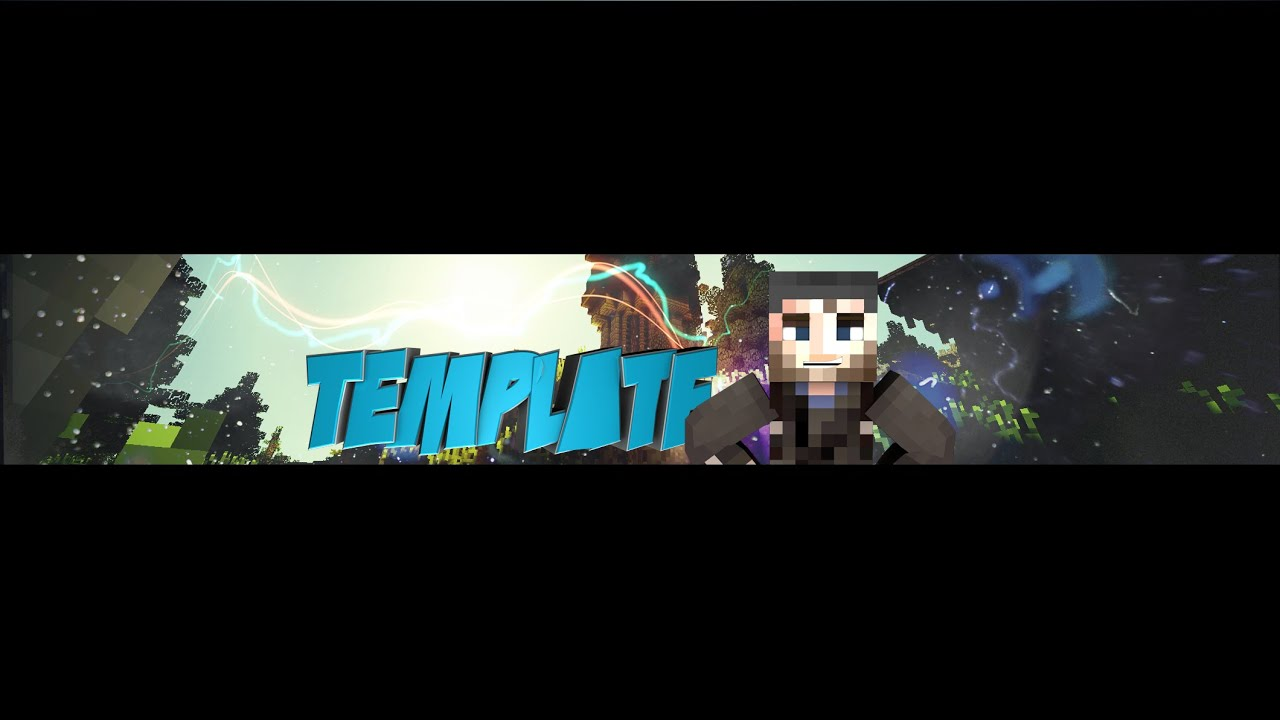FREE Minecraft Youtube Channel Art Template #1   YouTube