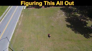 Billing Info & Mowing a Few Lawns - Very Windy Drone Day