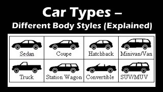 Most Popular Car Types Based on Different Body Styles | Types of Cars