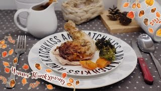 THANKSGIVING DINNER RECIPE:: TENDER AND JUICY ROASTED CHICKEN