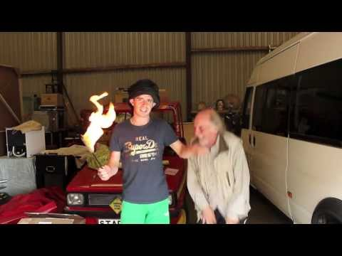 How to do dangerous things 1  Blind folded fire eating