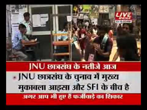 LIVE FROM JNU CAMPUS ON STUDENT UNION ELECTION 2013