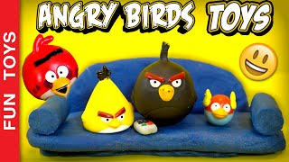 Angry Birds: Red, Chuck, Blue and Bomb are fighting for the remote control. Who will win? The Movie!