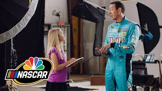 Kid reporter asks hard-hitting questions to NASCAR stars | Motorsports on NBC
