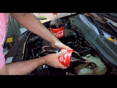 Antifiriz for engine water Instead of spilling Coca Cola!