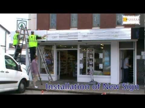 Shopfront Fascia Doc Morris Pharmacy by Cuspal Ireland