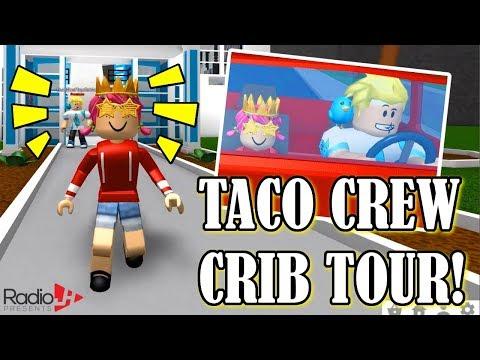 TACO CREW CRIB TOUR!  Roblox BLOXBURG Roleplay