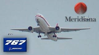 Meridiana/Air Italy Boeing 767-300 Takeoff at New York JFK Int'l Airport