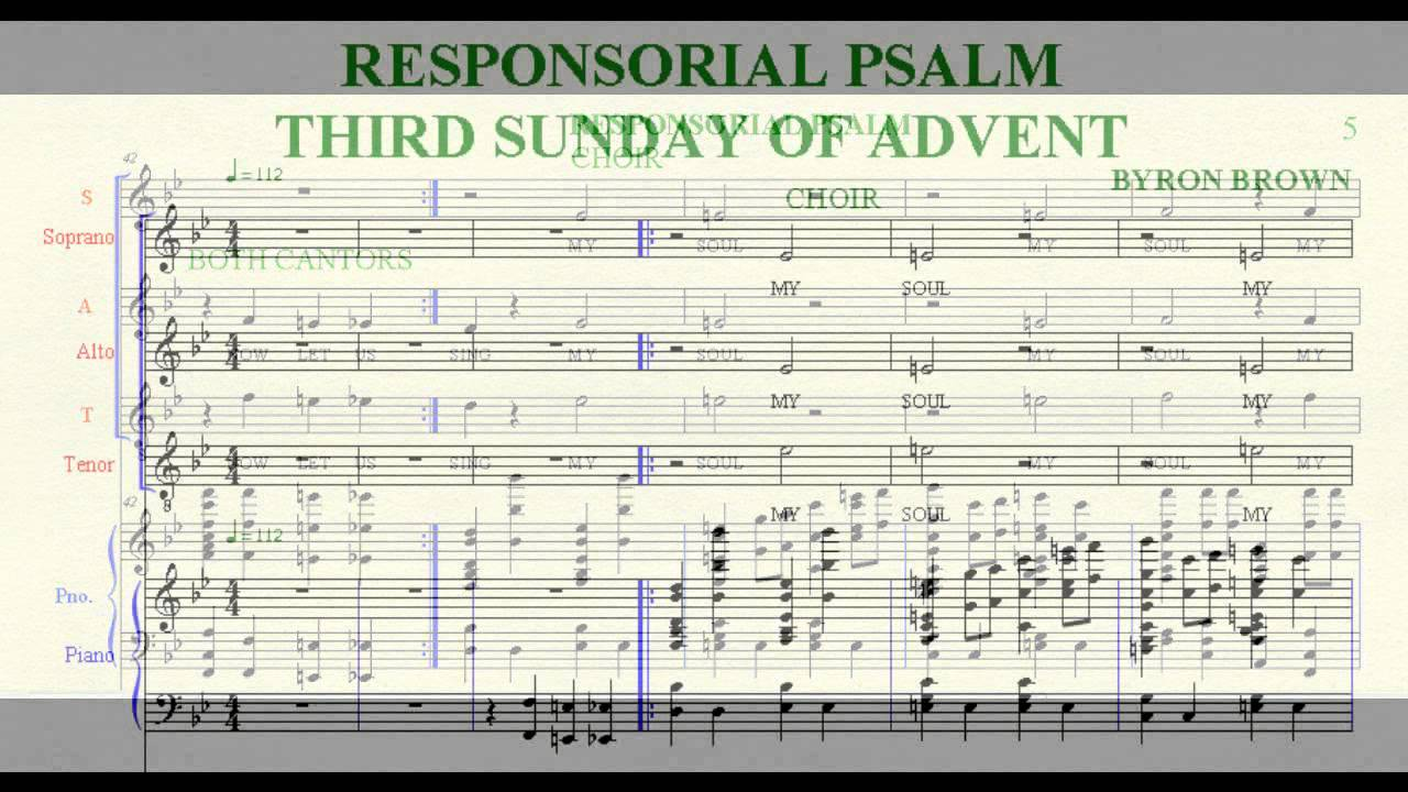 responsorial psalm third sunday of advent youtube. Black Bedroom Furniture Sets. Home Design Ideas