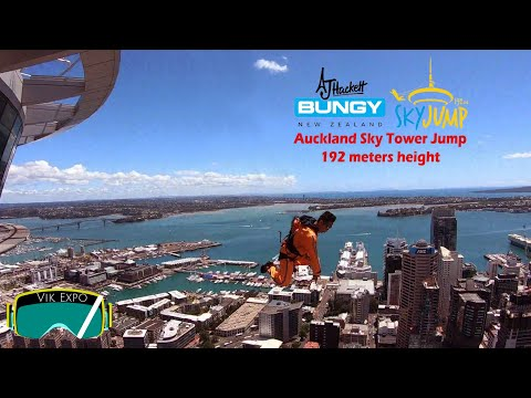 New Zealand | Auckland Sky Tower Jump From 192 Meter
