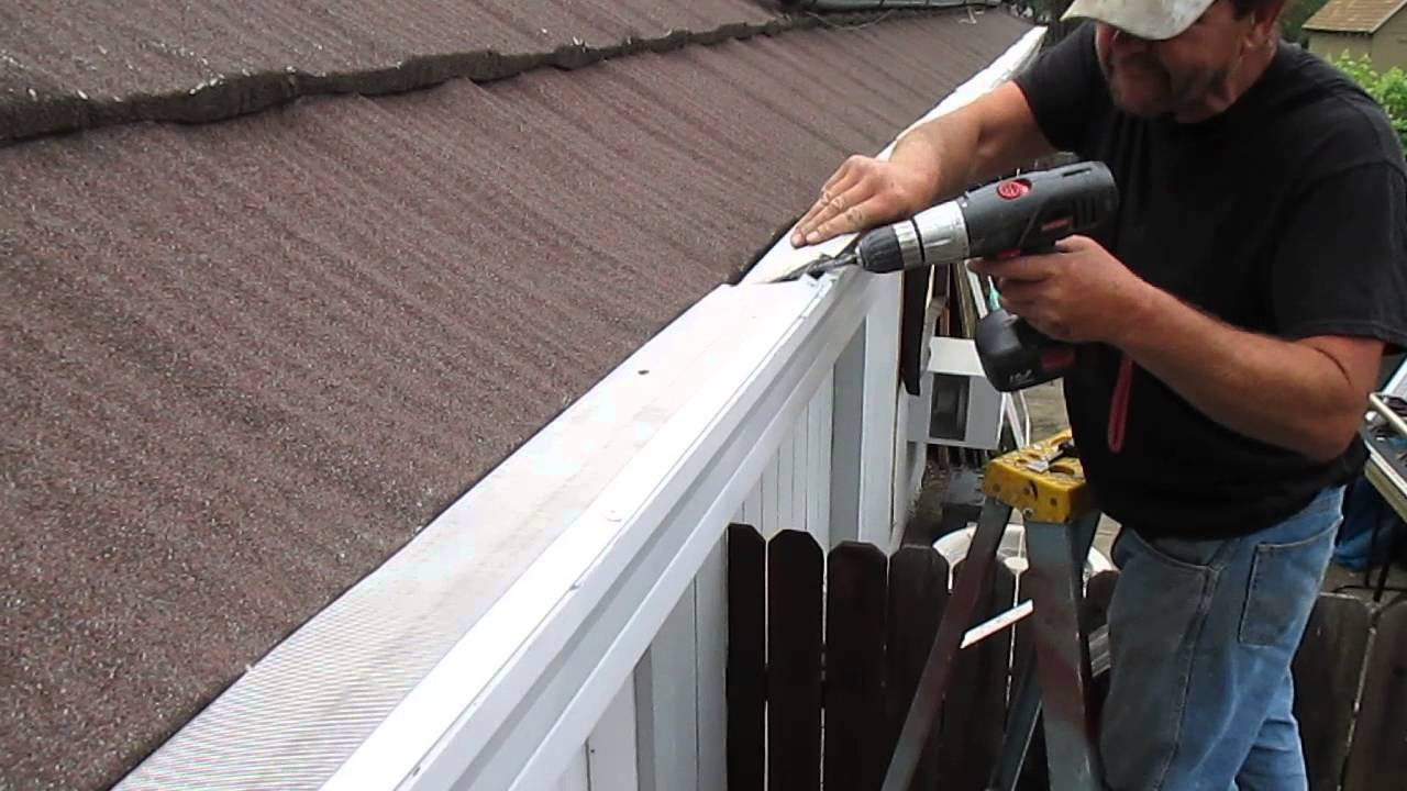 Stone Coated Metal Roof U0026 Super Clean Gutter Screen Install   YouTube