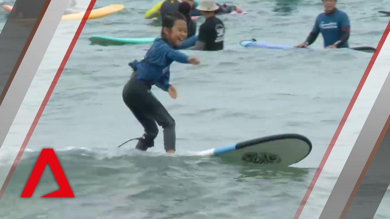 Surf's up at the DMZ, near the North Korean border