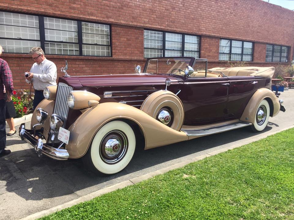 riding in a packard v12