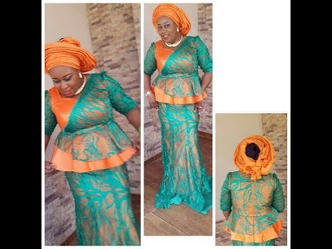 Colourful Lace Fabric : Beautiful Aso Ebi Styles 2016/2017 for  Ladies
